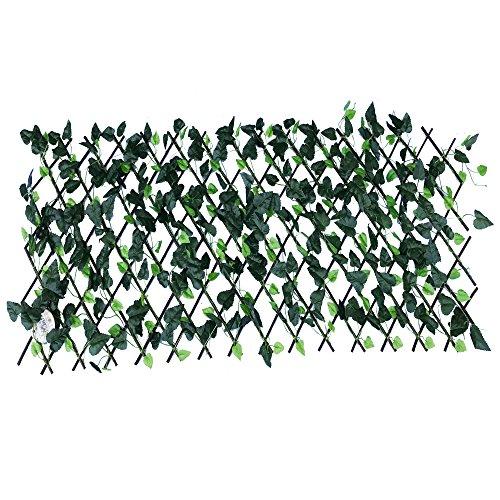 Perfectmaze Expandable Faux Ivy Trellis Hedge Plant for B...