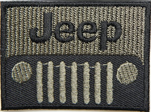 Jeep Patches Logo 5.8 cm x 4.3 cm Logo Sew Ironed On Badge Embroidery Applique Patch