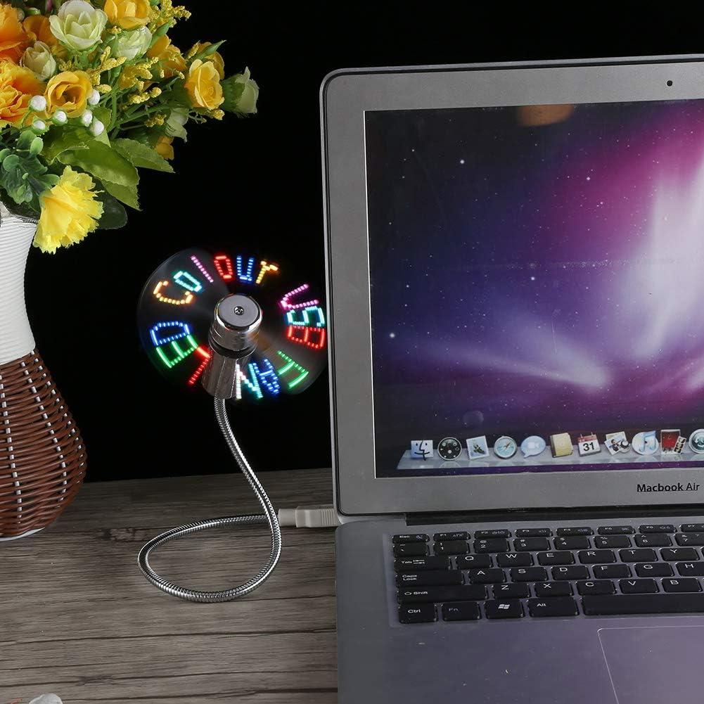 LED Flexible Pantalla LED programable Mini RGB USB Fan para PC port/átil USB Mini Ventilador Flexible Acouto USB Message Fan