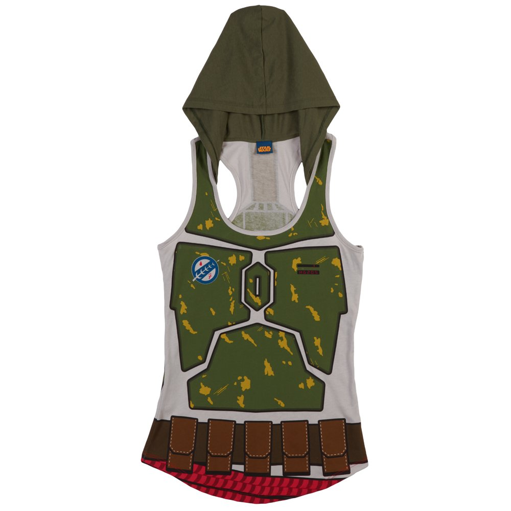 Star Wars I am Boba Fett Women's Hooded Tank Top, Small Mighty Fine WSTW181MTG1
