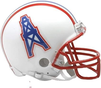 Amazon Com Houston Oilers 81 96 Riddell Vsr4 Mini Replica Football Helmet Sports Related Collectible Mini Helmets Sports Outdoors