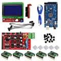 CHANGTA 3D Printer Controller Kit for Arduino Mega 2560 Uno R3 Starter Kits + RAMPS 1.4 + 5pcs A4988 Stepper Motor Driver + LCD 12864 for Arduino Reprap