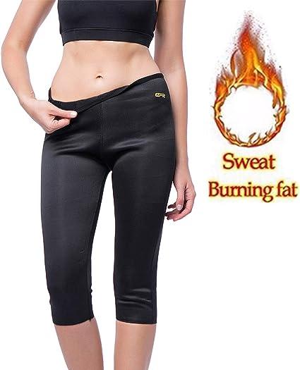 Women Slimming Thermo Capris Pants Sauna Hot Sweat Body Shaper Control Fat Burn