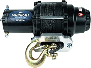 MotoAlliance VIPER Midnight ATV/UTV Winch 4500lb with 50 feet BLACK Synthetic Rope