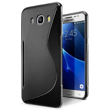 SLEO Funda para Samsung Galaxy J5 (2016) Slim Fit TPU Carcasa de Parachoques Case Traslúcido Suave con Absorción de Impactos y Resistente a los ...