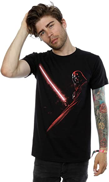 Star Wars Hombres Darth Vader Shadow Camiseta Large Negro: Amazon.es: Libros