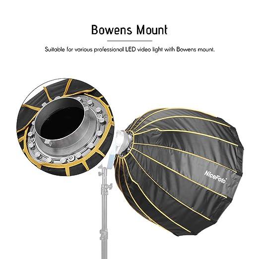 deep NICEFOTO Softbox Ventana parabólica 120cm para Bowens