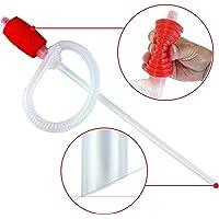 Pompe Siphon de transfert de Liquide/Essence - Un grand siphon de pressage pour les tondeuses à gazon et un pompage manuel de l'essence, l'eau, l'acool et bien plus ! (Par Luigi Plumbing)