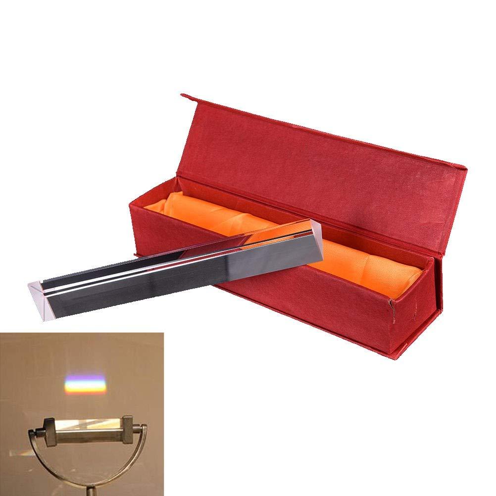 Neewer 7.8''/20cm Optical Glass Triple Triangular Prism Physics Teaching Light Spectrum