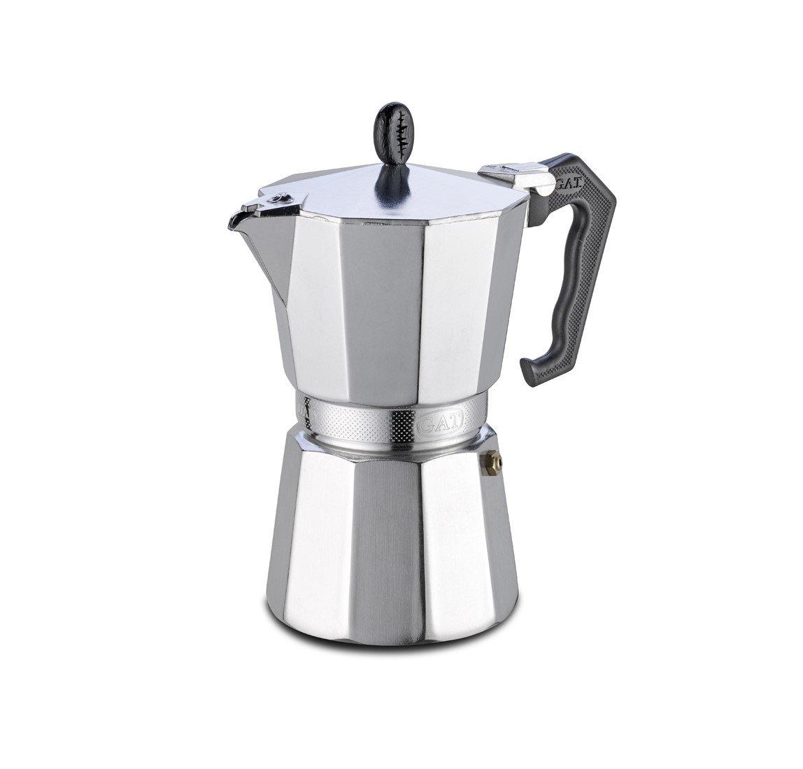 GAT Stove-Top Moka Espresso Italian-Made Coffee Maker Pot - 3 Cup G.A.T. 103203