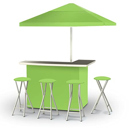 Best of Times Deluxe Package Patio Bar Tailgating Center, Lime Green