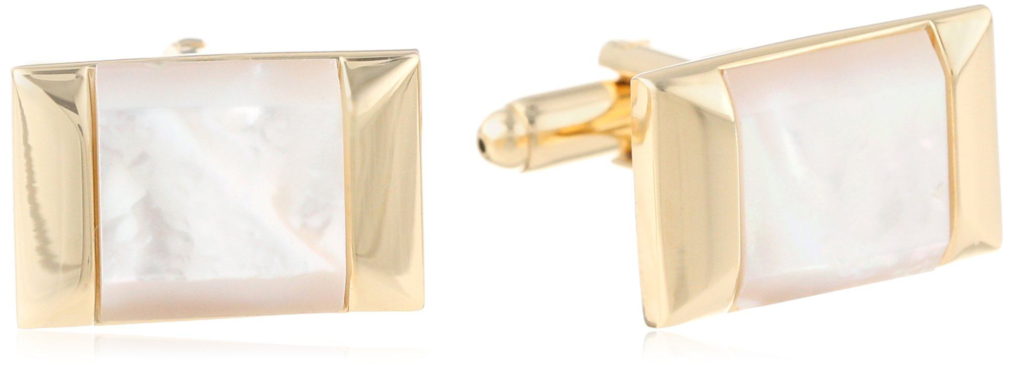 Stacy Adams Men's Cuff Link with Mop Stone, Gold, One Size by Stacy Adams (Image #1)