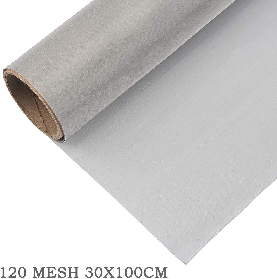 TIMESETL 30 x 100 cm Malla de Alambre Malla Tejido, Malla de Acero Inoxidable 304 Filtración de Hoja de Filtro de Pantalla