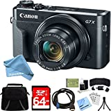 Canon PowerShot G7 X Mark II Zoom Digital Camera w/64GB Accessory Bundle includes Camera, Bag, 64GB SDXC Memory Card, HDMI Cable, Card Wallet + Reader, DigitalAndMore Cleaning Kit (Cyber Monday Deal)