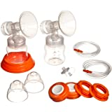 Hygeia Personal Accessory Set (PAS) - Includes Flanges, Tubing, Valves for Hygeia Breast Pump