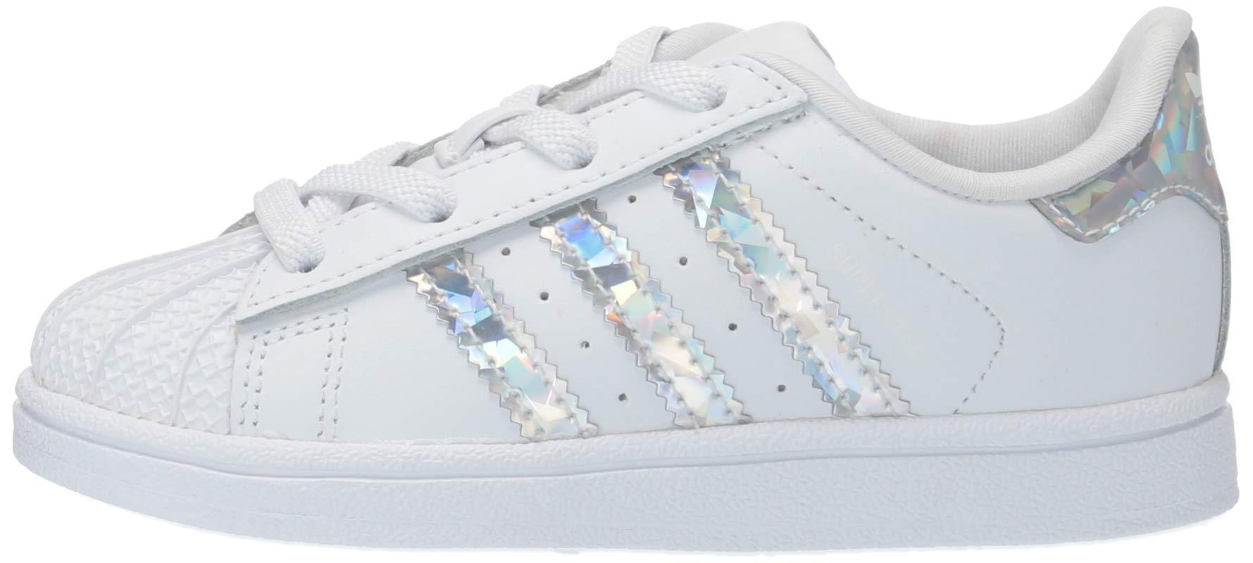 adidas Originals Unisex Superstar Running Shoe, White/White/White, 1 M US Little Kid by adidas Originals (Image #5)