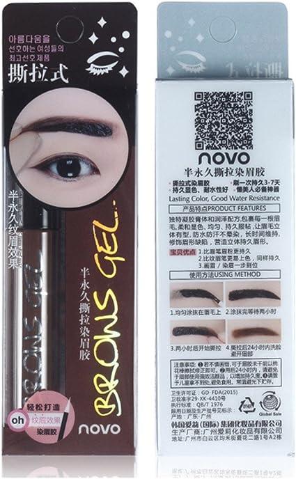 Huayang | Lote de tinte en gel para cejas, paquete de 6 gramos, larga duración y resistente al agua, para mujeres, método «peel-off»