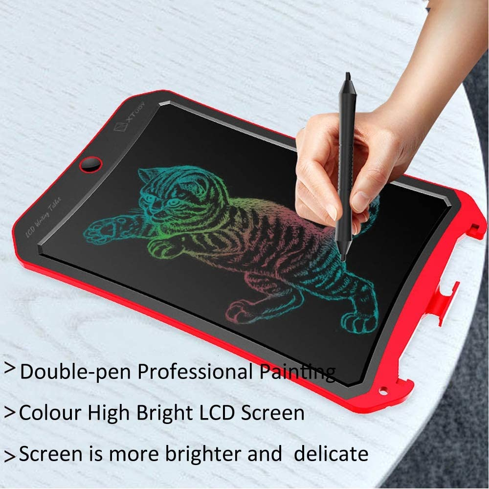Orange Color : Pink Electronics Accessories WP9309 8.5 inch LCD Color Screen Writing Tablet Handwriting Drawing Sketching Graffiti Scribble Doodle Board for Home Office Writing Drawing