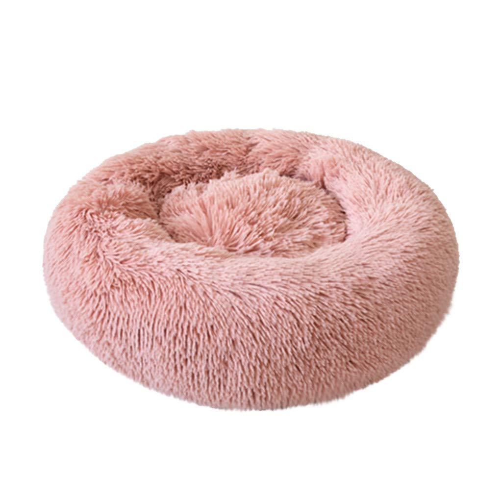 NLGToy Pet Bed Pet Dog Puppy,Comfortable Plush Kennel Dogs Pet Litter Deep Sleep PV Cat Litter Sleeping Bed,Doghouse Pet Warm Bed Super Soft Dog Bed Cushion for Cats (Pink, XX-Large) by NLGToy
