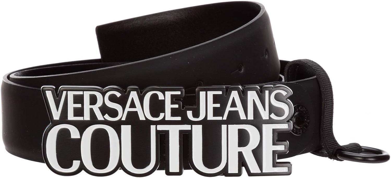 Versace Jeans Couture - Cinturón para Hombre, Color Negro