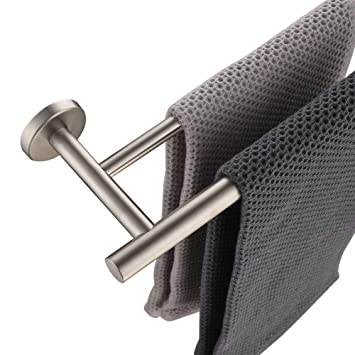 Jqk Double Bath Towel Bar 30 Inch Stainless Steel Towel Rack