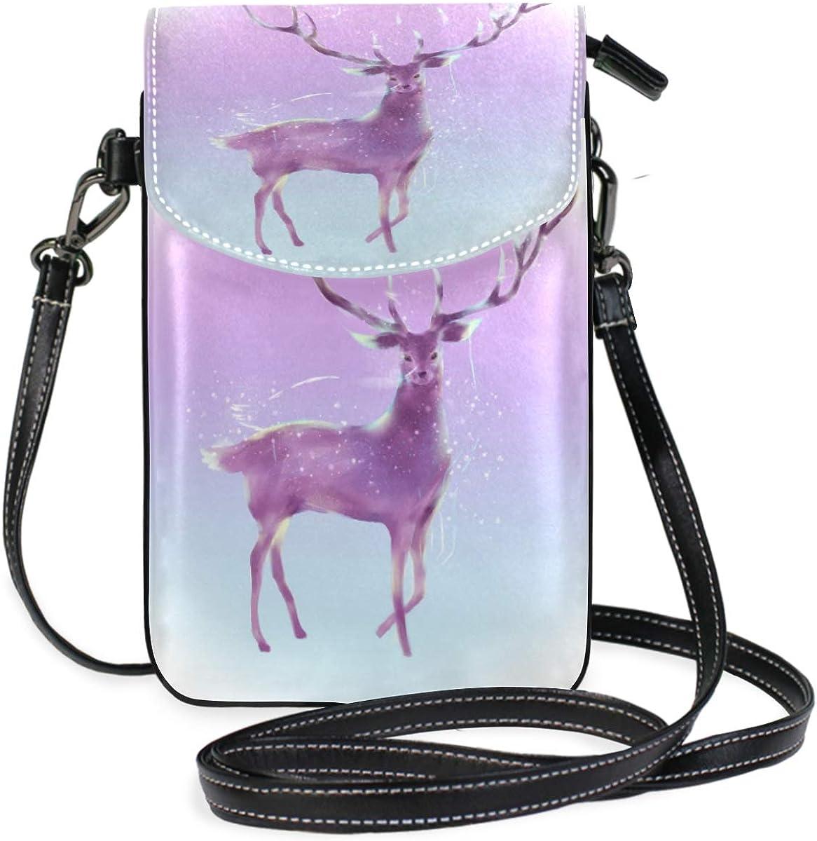 Fantasy Anime Deer Leather Purses Handbags Shoulder Tote Satchel Bags Womens