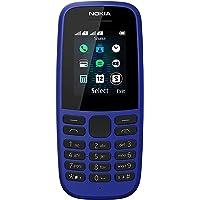 Nokia 105 - Telefoon Met Opslagcapaciteit Tot 2000 Contacten - FM-Radio - Geïntegreerde Zaklamp, Blauw, 4MB