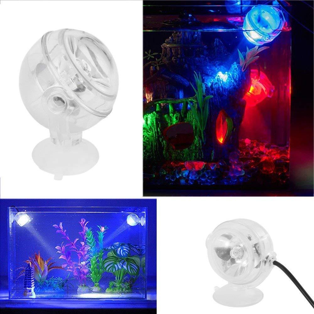 DJLOOKK LED Lámpara De Acuario Bombilla De Buceo Acuario Proyectores Luminosos A Prueba De Agua Luz del Acuario Burbuja Pecera Luz De Buceo Anfibia,Red: ...