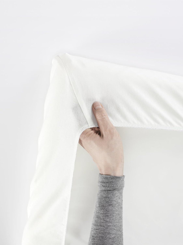 Color Blanco BABYBJ/ÖRN S/ábana ajustable para Cuna de Viaje Easy Go y Light