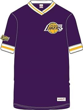 Los ángeles Lakers NBA hombres de las horas extraordinarias Win Vintage cuello en V camiseta jersey (2 x l): Amazon.es: Deportes y aire libre