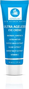 OZ Naturals - The BEST Eye Cream For Dark Circles & The ONLY Eye Moisturising Cream That Contains Astaxanthin, Matrixyl Synthe'6, Caffeine, Coffee Extract & Carrot Root Extract. Guaranteed Effective