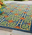 "Talavera Tile Indoor / Outdoor Rug, 2'6"" x 4'"