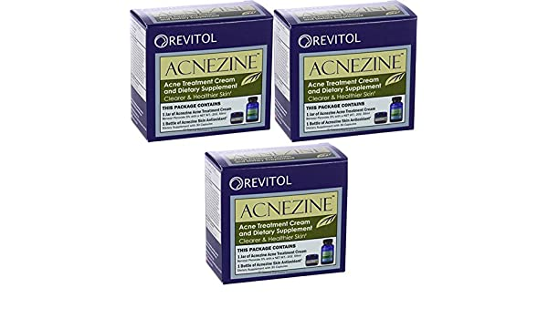 Revitol Acnezine 3 Kits Caps Acne Cream Clear Skin Amazon Ca