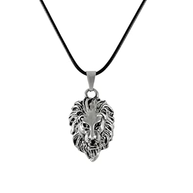 Sarah lion pendant necklace for men silver amazon jewellery sarah lion pendant necklace for men silver aloadofball Image collections