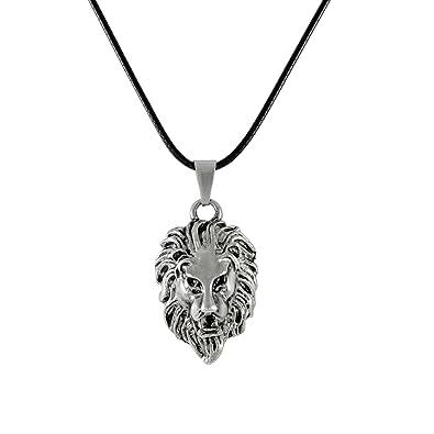 Sarah lion pendant necklace for men silver amazon jewellery sarah lion pendant necklace for men silver aloadofball Gallery