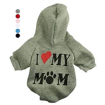 FishBabe Sudadera con capucha para perro, diseño de gatos con texto en inglés I Love My Mum: Amazon.es: Productos para mascotas