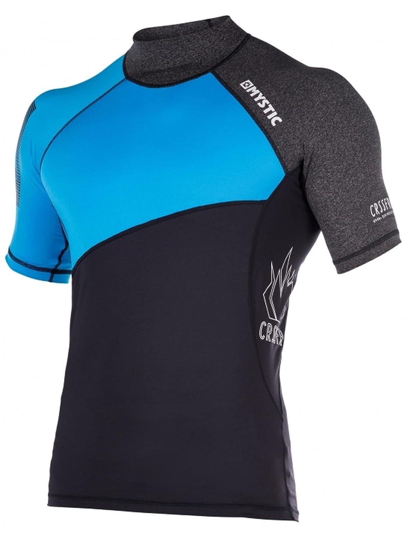Mystic Kitesurf Crossfire Short Sleeve Rash Vest 2017 – ブルー Medium  B06Y3HFYXQ
