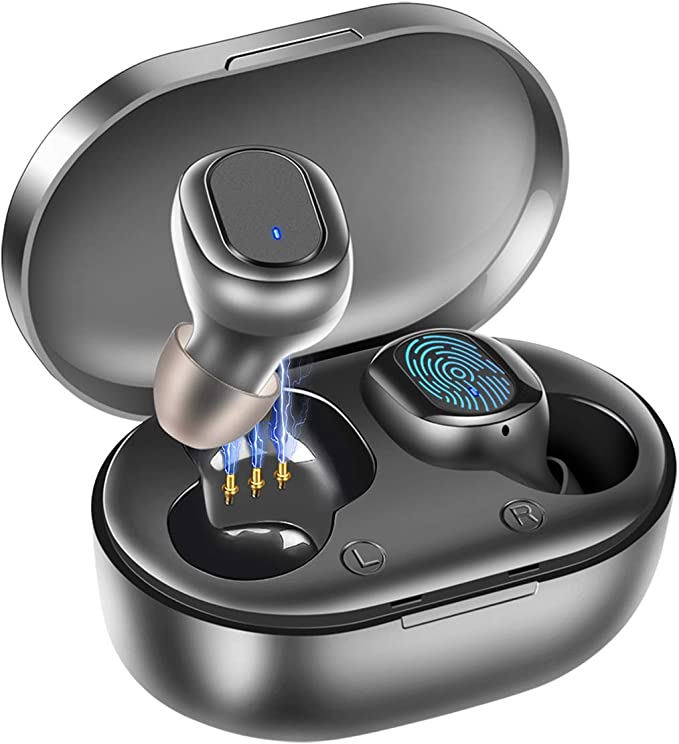 81 opinioni per Senza Fili Auricolari, Wireless Cuffie Bluetooth 5.0 IPX7 Impermeabile con 3D