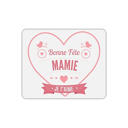 Tapis De Souris Bonne Fête Mamie Coeur Rouge Amazonfr