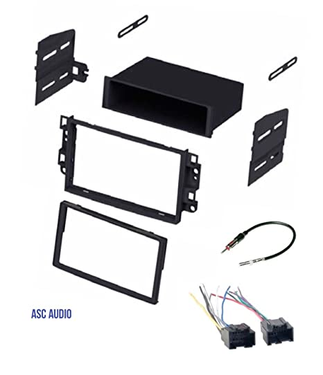 asc car stereo dash kit, wire harness, antenna adapter to install radio for  some