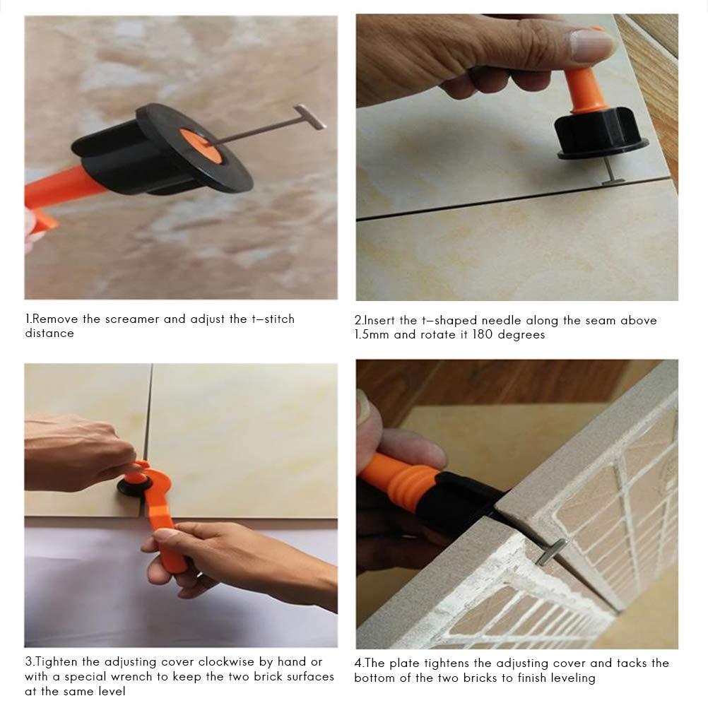 Rivadal Tiles Leveler Spacers Tile Leveling System T Shape Tile Leveling Spacers Wedges for Building Walls Floors