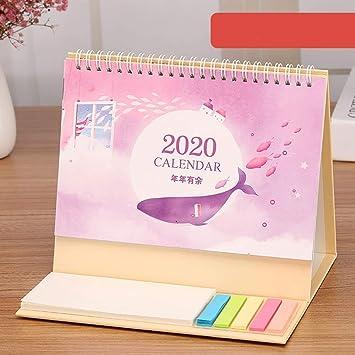 FJXQCY Octubre 2019 a diciembre 2020 Calendario de Escritorio 2020 ...