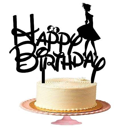Feliz cumpleaños para niñas en Disney style-acrylic ...