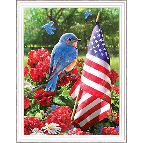- ROYAL BRUSH Patriotic Bluebird Paint-by-Number Kit