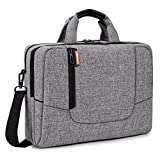 BRINCH 15.6 inch New Fashion Laptop Computer Case Cover Sleeve Shoulder Strap Bag with Side Pockets Handles and Detachable for Laptop / Notebook / NetBook / Chromebook,Colour Light Grey