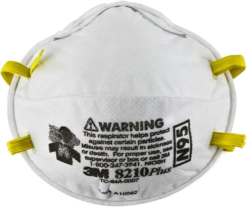 3M 7048/8210 N95 (20 Safety Respirator Particle Masks)
