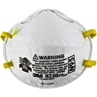 3M 8210 N95 Health Care Particulate Flu Protection Respirator and Surgical Mask, Pack of 10