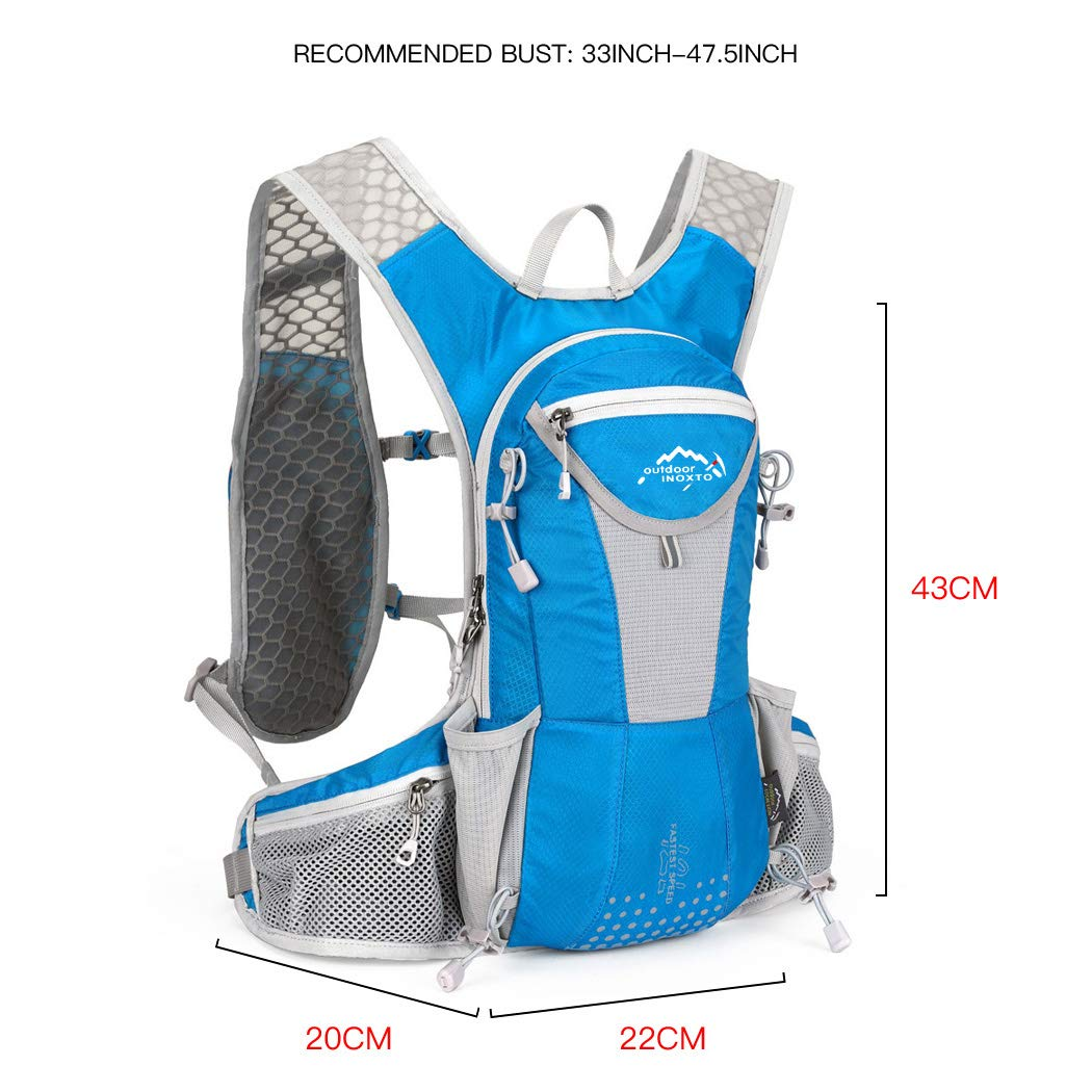 IBTXO Hydration Pack Backpack 12L Outdoors Marathoner Running Race Hydration Vest with Water Bladder for Hiking Skiing Running Cycling Camping Fits Men and Women