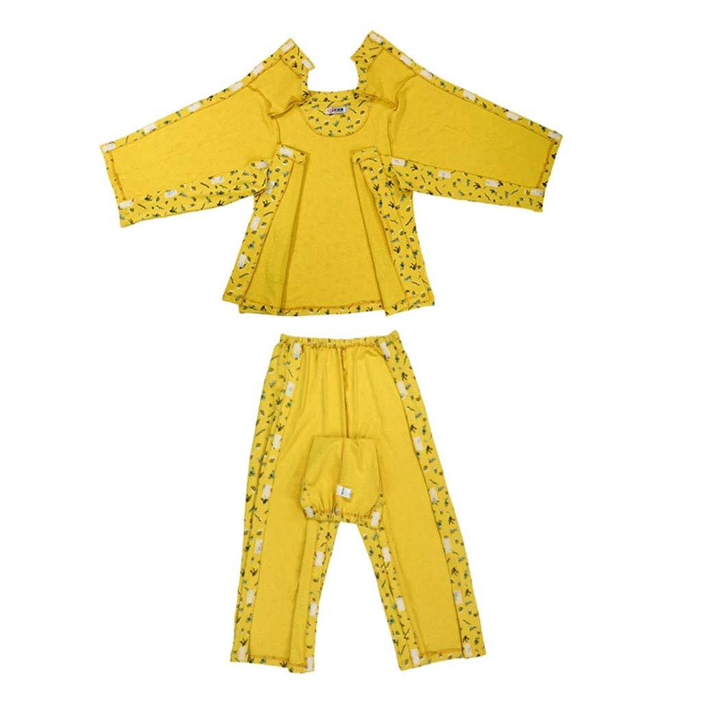 Fityle Lightweight, Bedridden Patients Surgery Nursing Clothes Women Cotton Pajamas Easy On Off - M