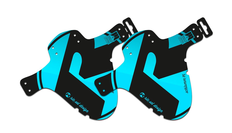 parafango-mud guard-anteriore-per anteriore e posteriore-MTB-Blue 2018 Riesel Design-Set-2x Schlamm:PE